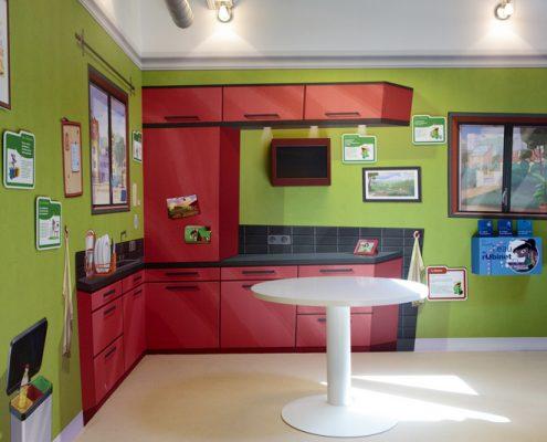 Showroom de la maison du développement durable (étude, concéption et aménagement du showroom)